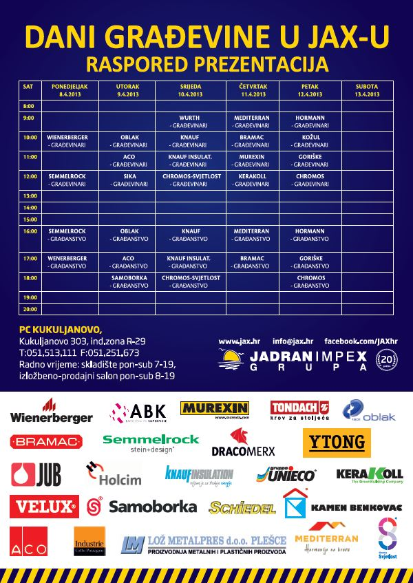 Dani građevine-raspored prezentacija