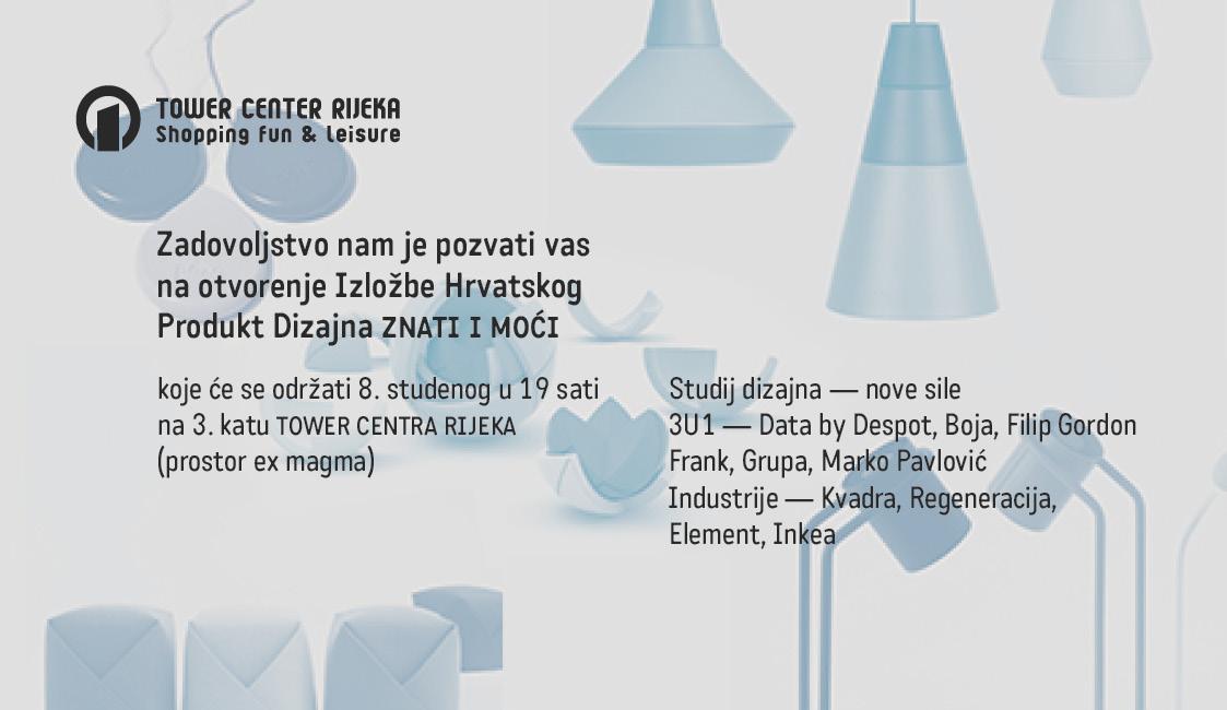 Pozivnica _ZNATI I MOĆI_Izložba Produkt Dizajna _Rijeka Tower