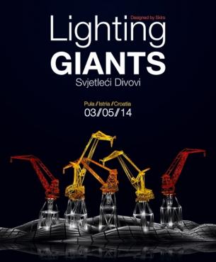 Osvjetljavanje dizalica u Puli 05. svibnja 2014.