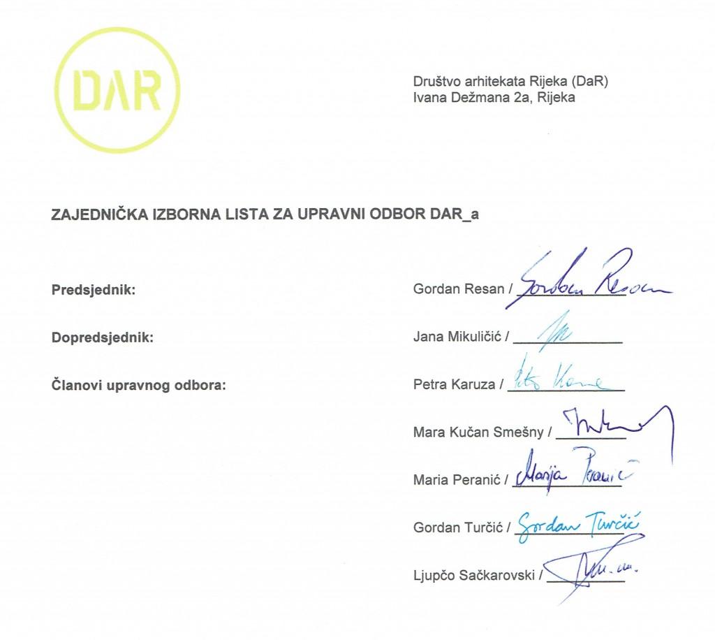 Izborna lista 1-2014